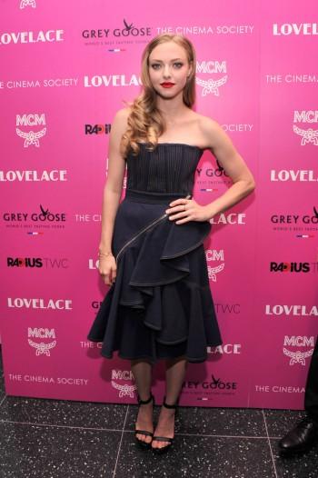 "Amanda Seyfried Wears Givenchy to ""Lovelace"" New York Screening"