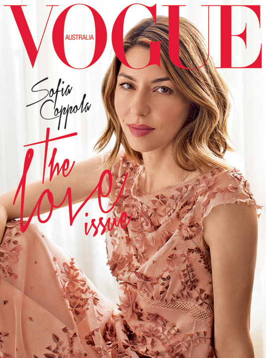 Sofia Coppola Models for Vogue Australia August 2013 by Paul Jasmin