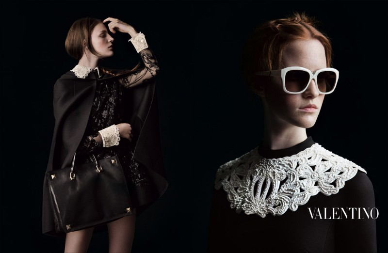 valentino fall ads 1 800x522 Valentino Finds Classic Inspiration for Fall 2013 Ads by Inez & Vinoodh