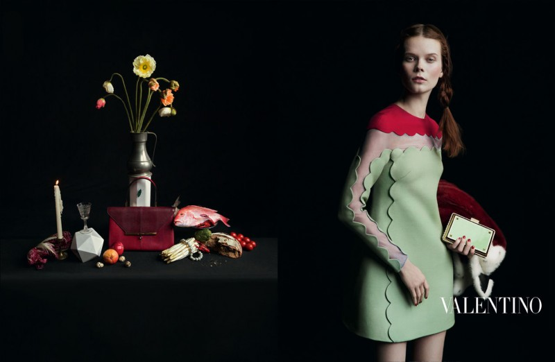 valentino fall ads 11 800x522 Valentino Finds Classic Inspiration for Fall 2013 Ads by Inez & Vinoodh