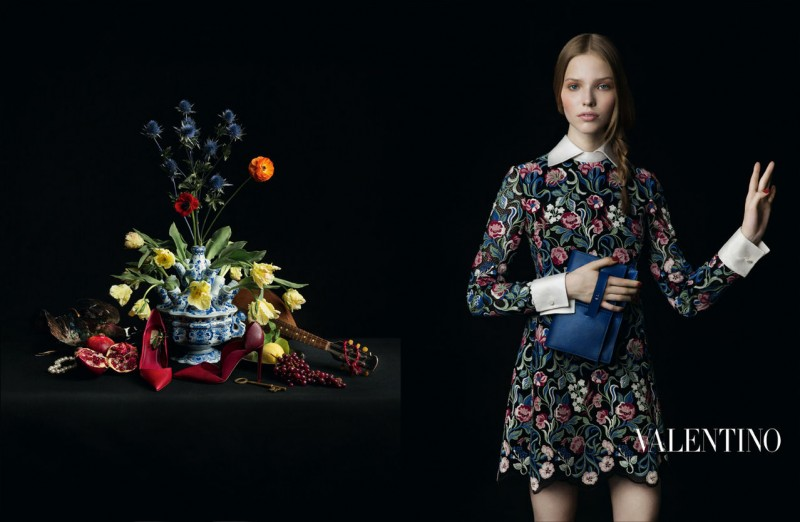 valentino fall ads 4 800x522 Valentino Finds Classic Inspiration for Fall 2013 Ads by Inez & Vinoodh
