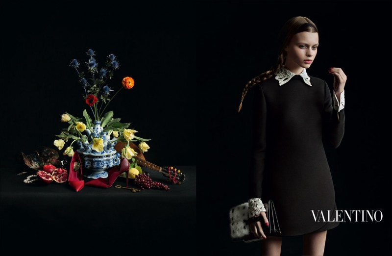 valentino fall ads 5 800x522 Valentino Finds Classic Inspiration for Fall 2013 Ads by Inez & Vinoodh