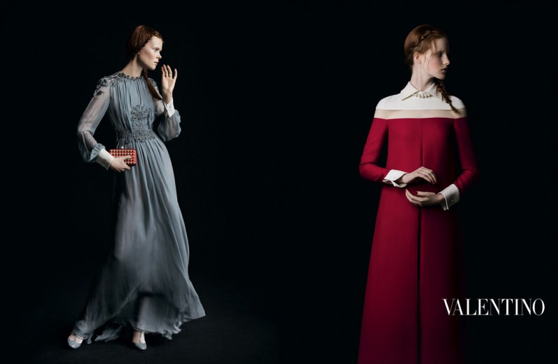 valentino fall ads 9 800x522 Valentino Finds Classic Inspiration for Fall 2013 Ads by Inez & Vinoodh