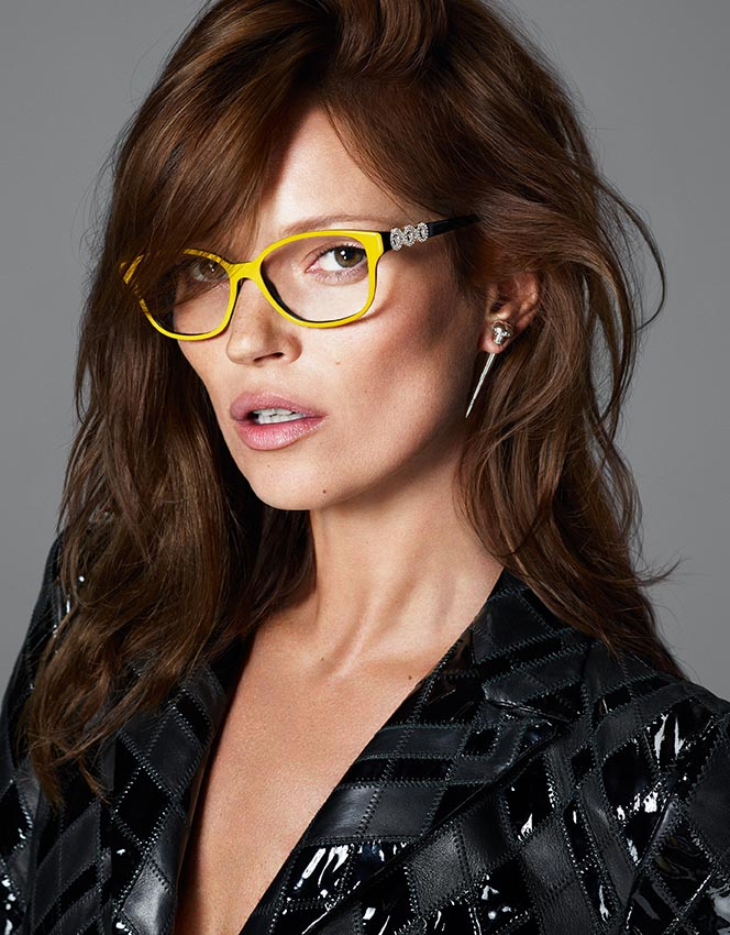 versace eyewear3 More Versace Fall 2013 Ads Starring Kate Moss and Saskia de Brauw