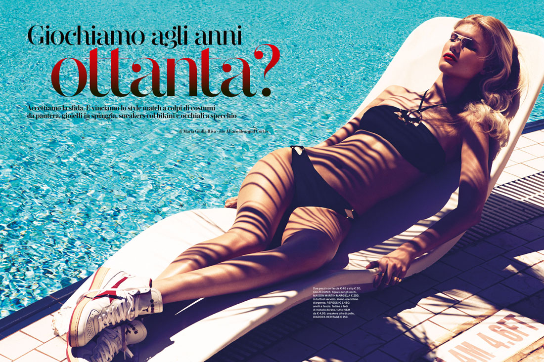 yulia swim2 Yulia Terentieva Hits the Beach for Gioia Magazine by Alvaro Beamud Cortes