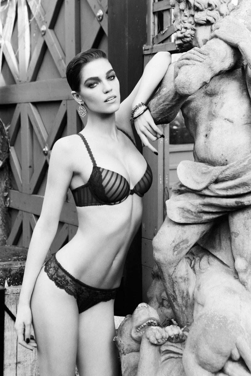 Samantha Gradoville Wows in Blush Lingeries Fall 2013 Ads by Max Abadian