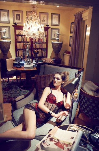 Samantha Gradoville Wows in Blush Lingerie's Fall 2013 Ads by Max Abadian