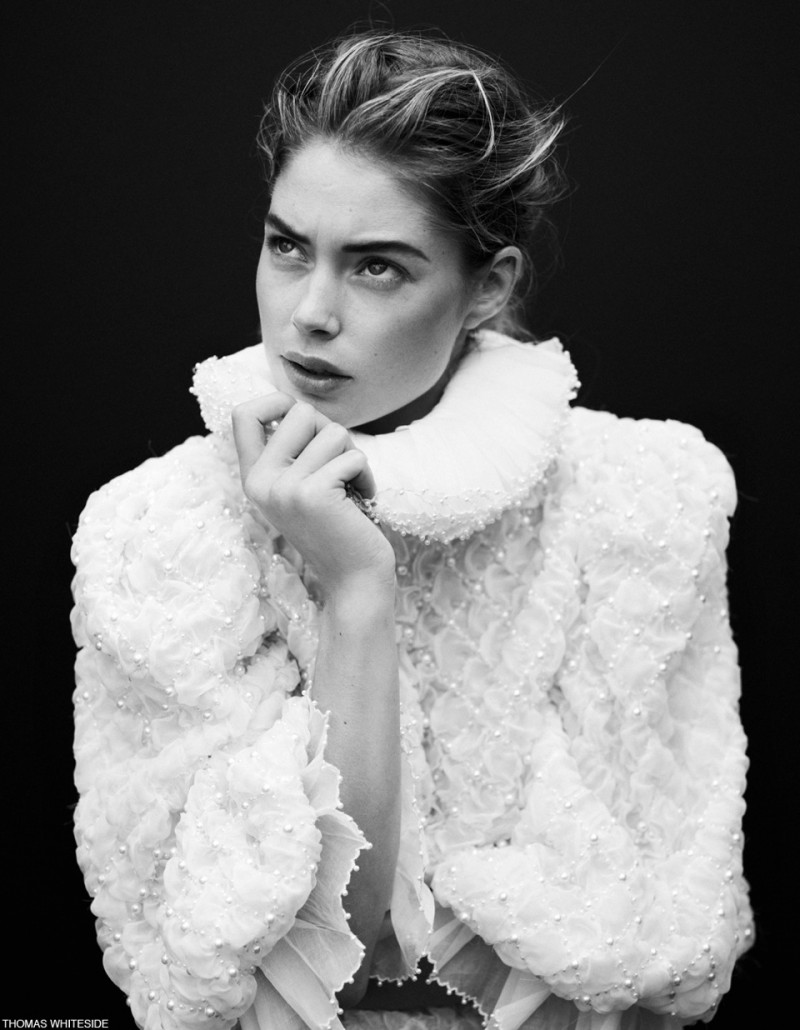 Doutzen Kroes Poses for Thomas Whiteside in Elle France Collections Story