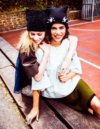 Hicham Riad Shoots Yana & Chavelli for Elle Belgium's September 2013 Issue