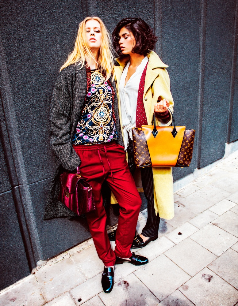 HichamRiad 12 Hicham Riad Shoots Yana & Chavelli for Elle Belgium's September 2013 Issue