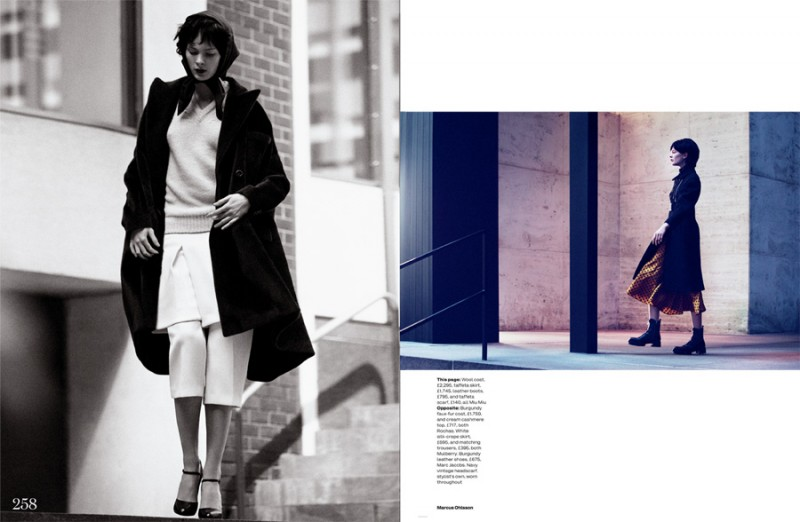 MO elleuk 2 800x522 Irina Kulikova is Retro in the City for Elle UK by Marcus Ohlsson