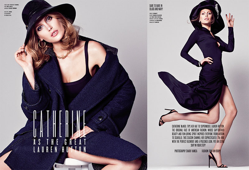 Catherine McNeil Channels Lauren Hutton for V Magazine by Sharif Hamza