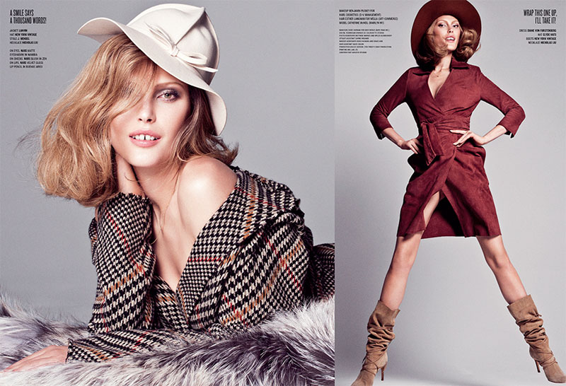 Sharif Hamza V Mag 4 Catherine McNeil Channels Lauren Hutton for V Magazine by Sharif Hamza