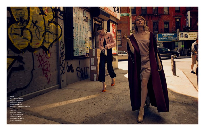 Ehren & Charlotte Hit the Streets for Tomorrow's Journal by Jens Stoltze