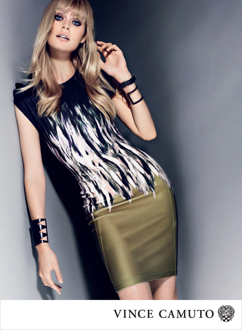VC F13 800px DRESS Vince Camuto Gets Dark for Fall 2013 Campaign Starring Inguna Butane