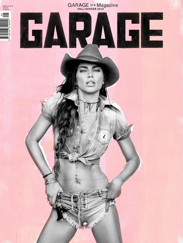 Adriana Lima is a Sexy Cowgirl for Garage's F/W 2013 Cover