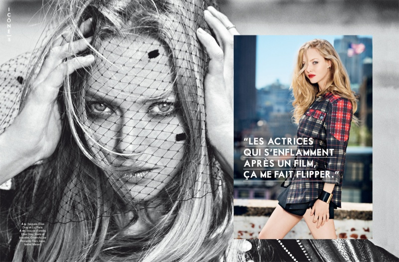 Amanda Seyfried Poses for Ben Watts in Glamour Paris Shoot