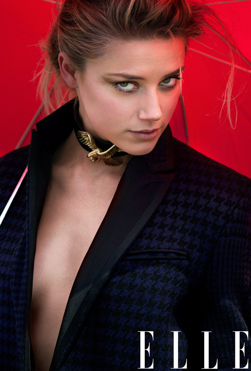 Amber Heard Appears in Elle's September Issue