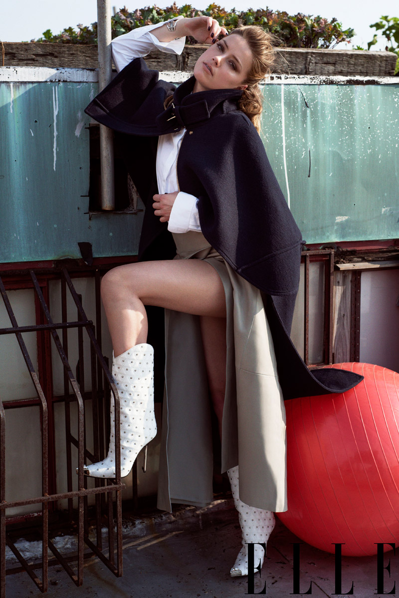 amber heard fashion3 Amber Heard Appears in Elles September Issue