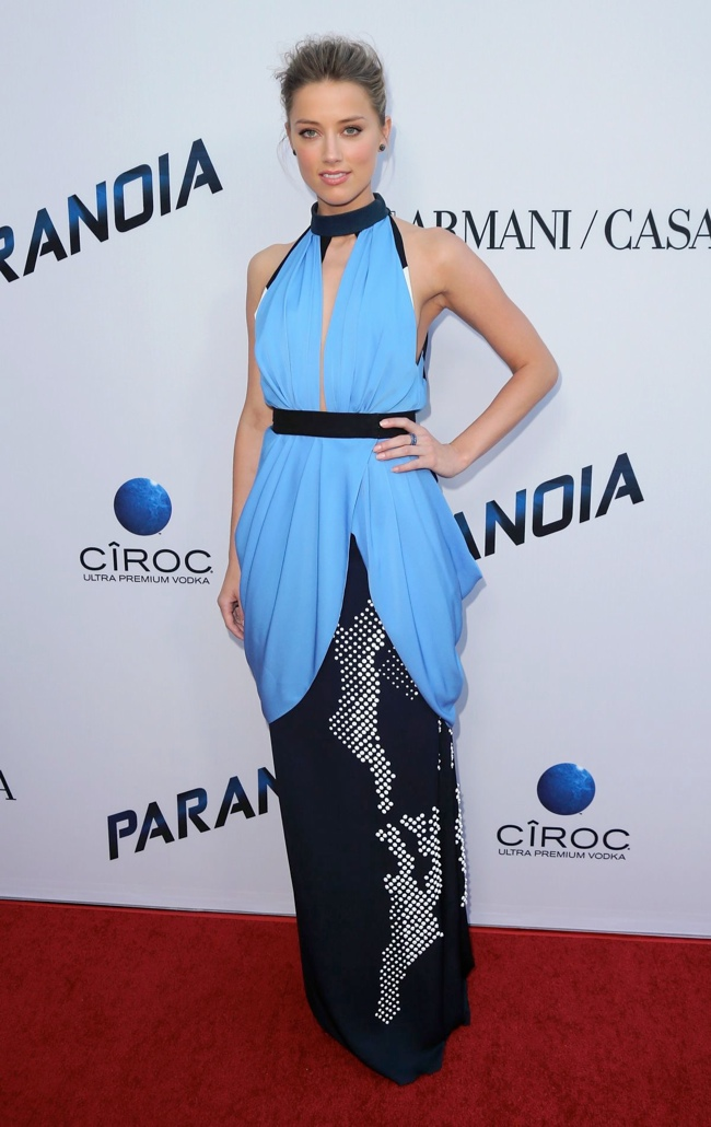 amber heard vionnet2 Amber Heard Wears Vionnet to the Paranoia Los Angeles Premiere