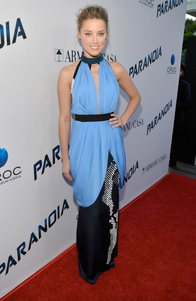 amber heard vionnet3 Amber Heard Wears Vionnet to the Paranoia Los Angeles Premiere