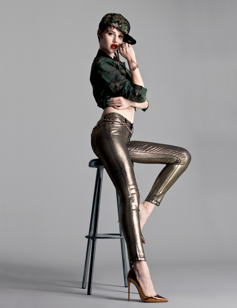 anais flaunt shoot 7 Anais Pouliot Poses in Cutting Edge Style for Flaunt by Stevie and Mada