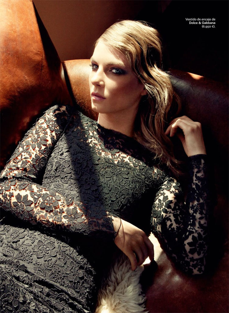 angela lindvall model3 Angela Lindvall Keeps it Low Key for Hilary Walsh in S Moda Spread