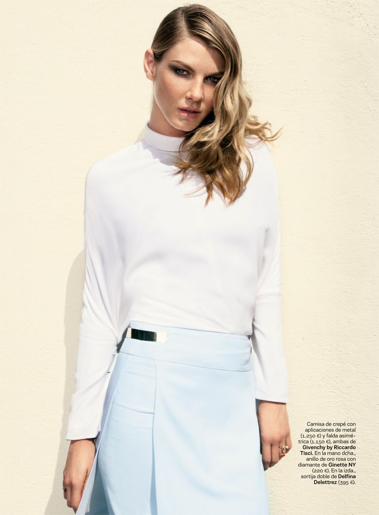 angela lindvall model4 Angela Lindvall Keeps it Low Key for Hilary Walsh in S Moda Spread
