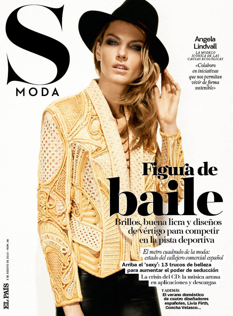 angela lindvall model7 Angela Lindvall Keeps it Low Key for Hilary Walsh in S Moda Spread