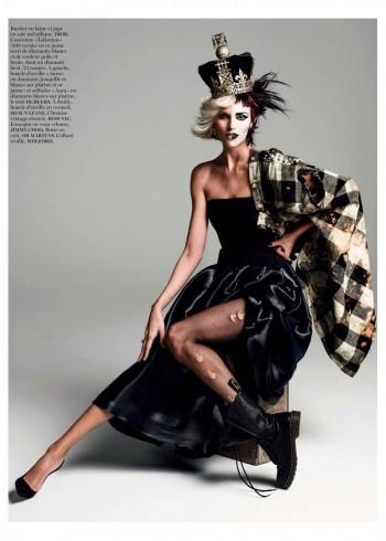 Anja Rubik Gets Regal for Vogue Paris Shoot by Inez & Vinoodh