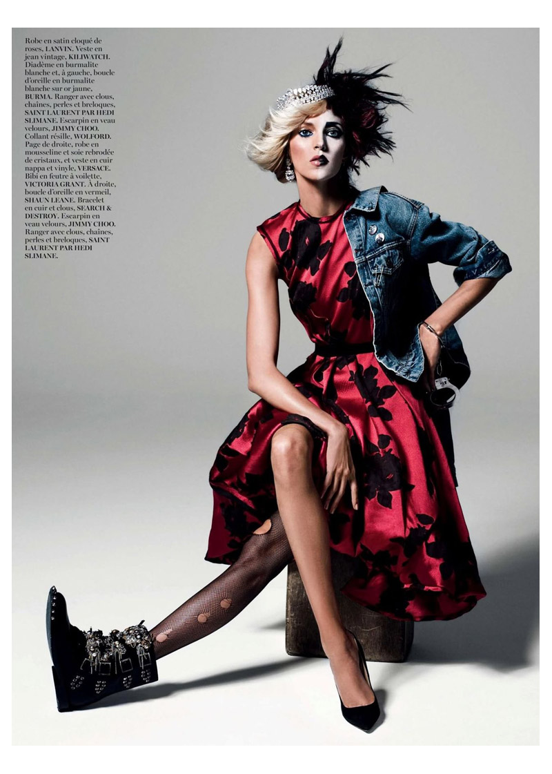 anja queen4 Anja Rubik Gets Regal for Vogue Paris Shoot by Inez & Vinoodh