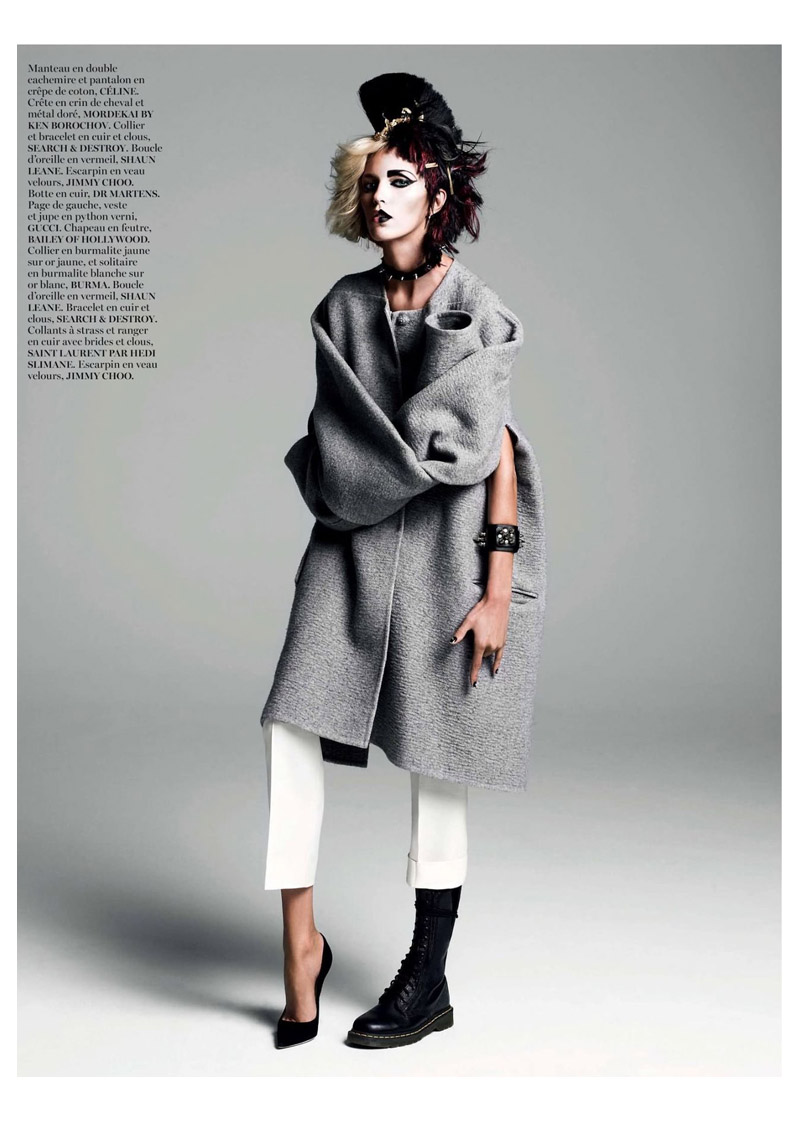 anja queen6 Anja Rubik Gets Regal for Vogue Paris Shoot by Inez & Vinoodh