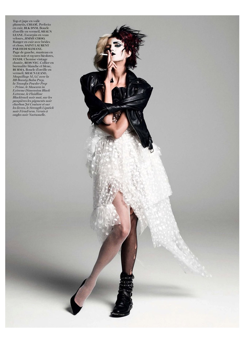 anja queen8 Anja Rubik Gets Regal for Vogue Paris Shoot by Inez & Vinoodh