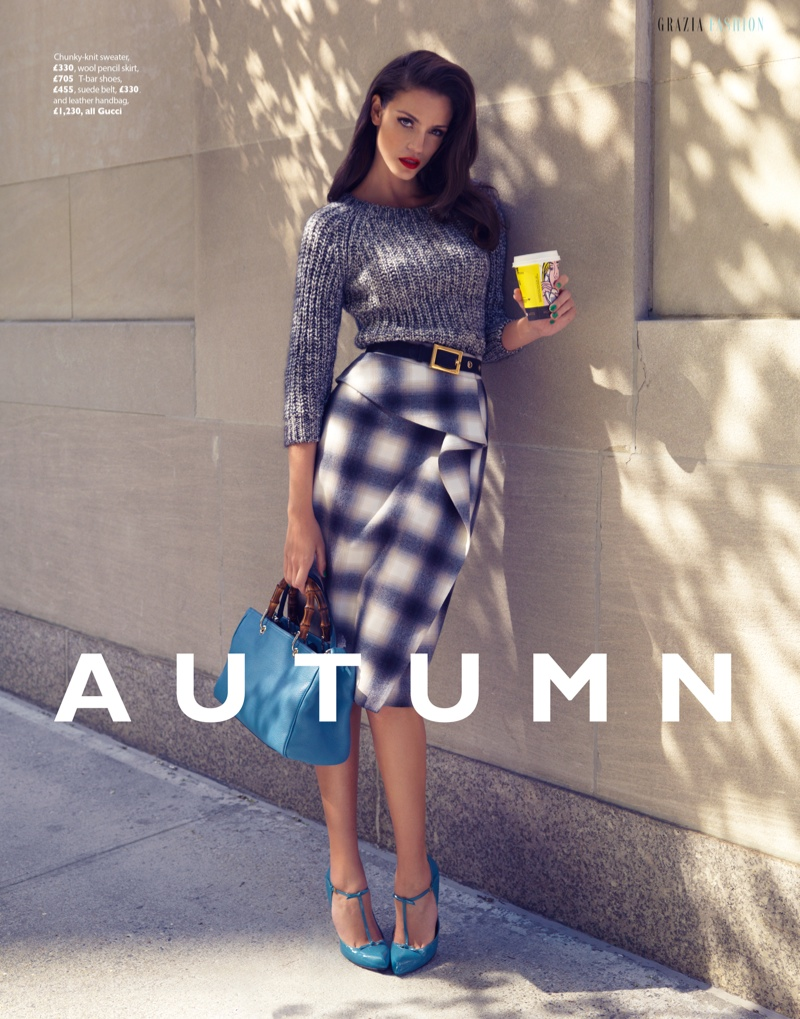 Sofia Resing Models Bright Fall Looks for Grazia UK by Asa Tallgard