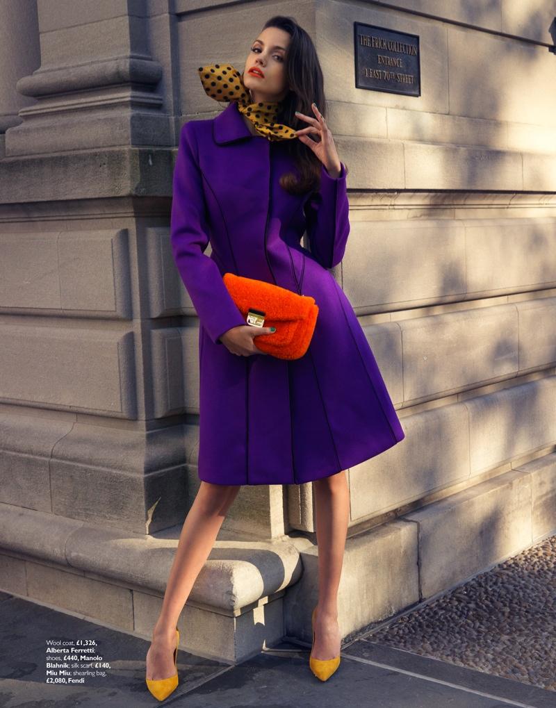 Sofia Resing Models Bright Fall Looks for Grazia UK by Asa Tallgard