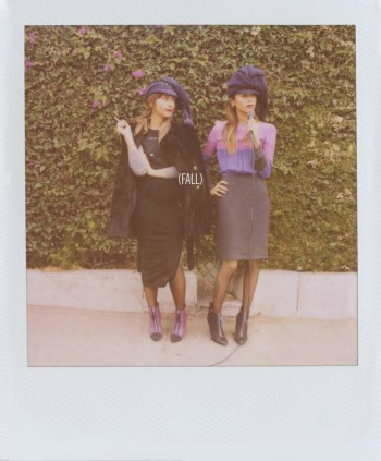 Sisters Rashida & Kidada Jones Front Band of Outsiders F/W 2013 Ads