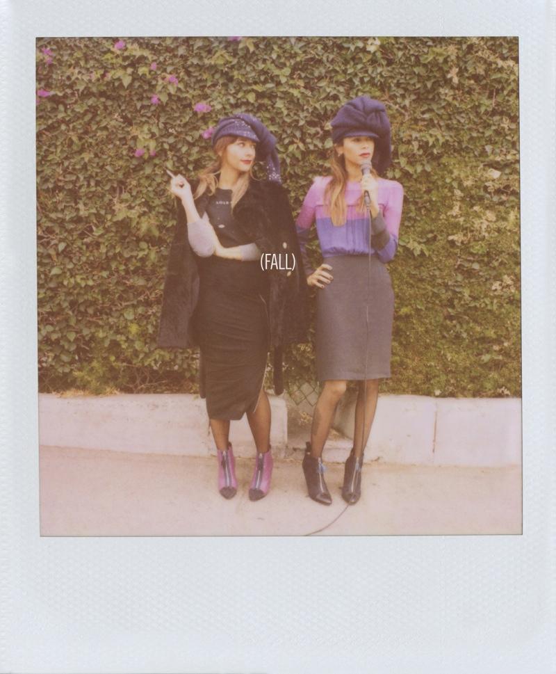 Sisters Rashida & Kidada Jones Front Band of Outsiders F/W 2013 Ads
