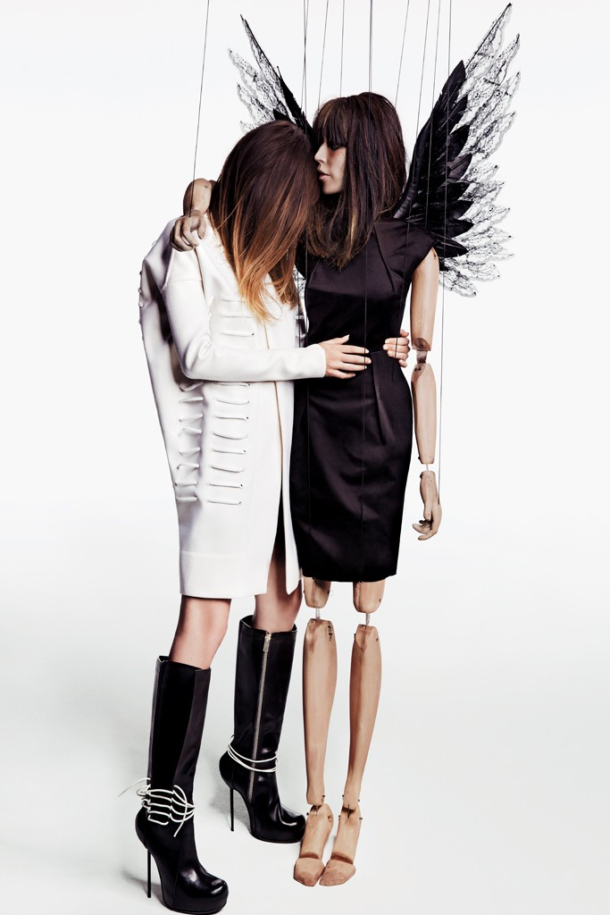 barneys lou doillon1 Lou Doillon and Her Doll Star in Barneys New York Fall 2013 Campaign