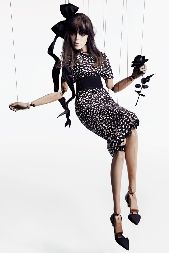Lou Doillon and Her Doll Star in Barney's New York Fall 2013 Campaign