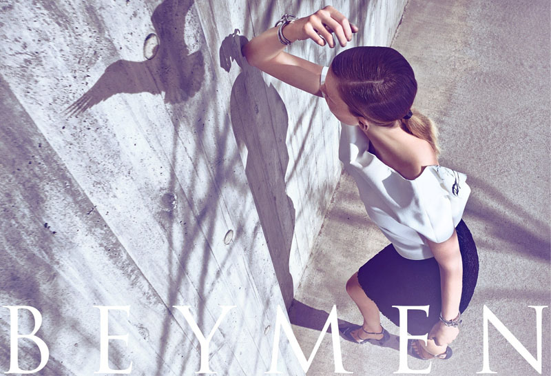 Katrin Thormann Fronts Beymen Fall 2013 Ads by Koray Birand