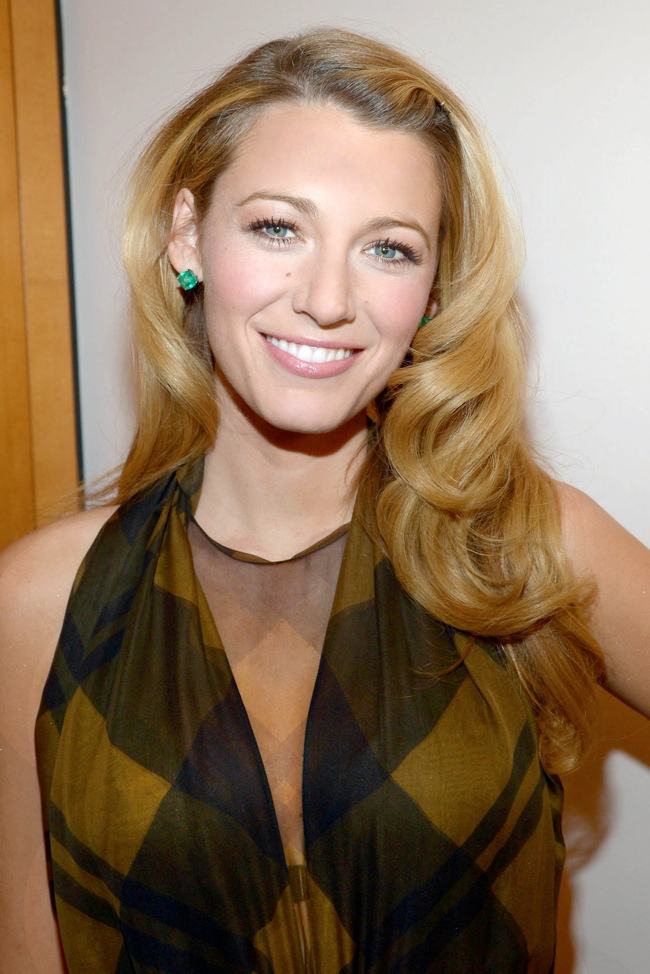 blake lively retro waves 12 Long Hairstyles That Inspire