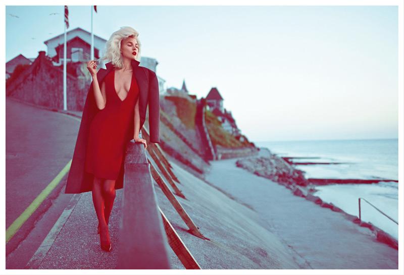Britt Maren Gets Cinematic for Koray Birand in Elle Russia September 2013