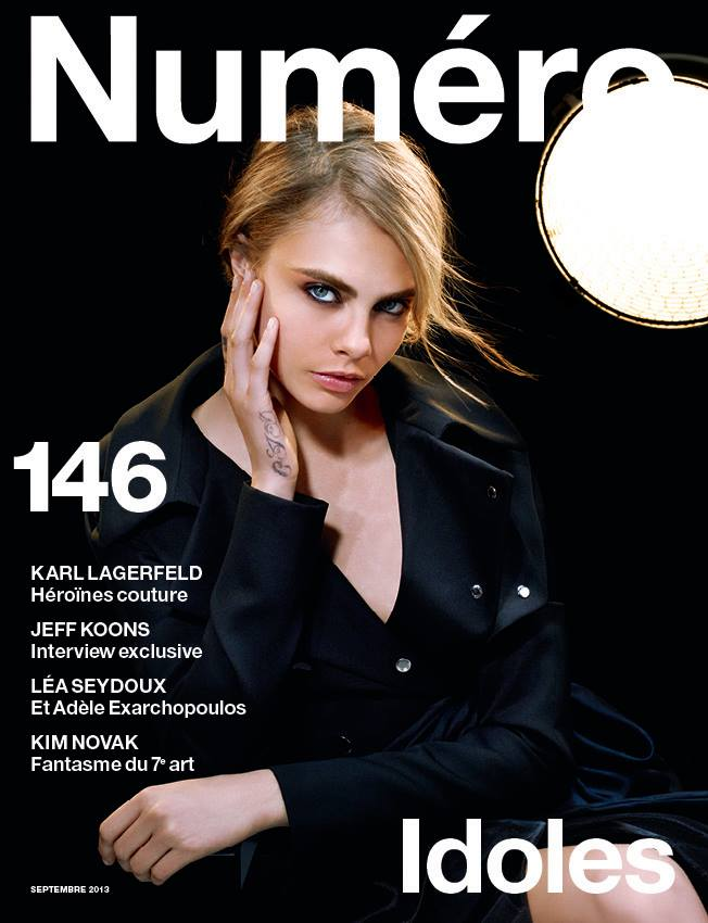 cara karl lagerfeld cover Cara Delevingne Poses for Karl Lagerfeld on Numéro #146 Cover
