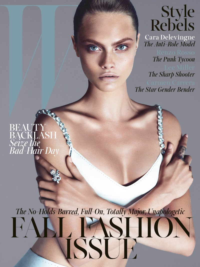cara w magazine cover Cara Delevingne Lands W Magazines September 2013 Cover