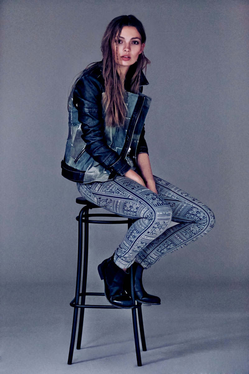 Carola Remer Sports Boyish Looks for Free People's August Lookbook