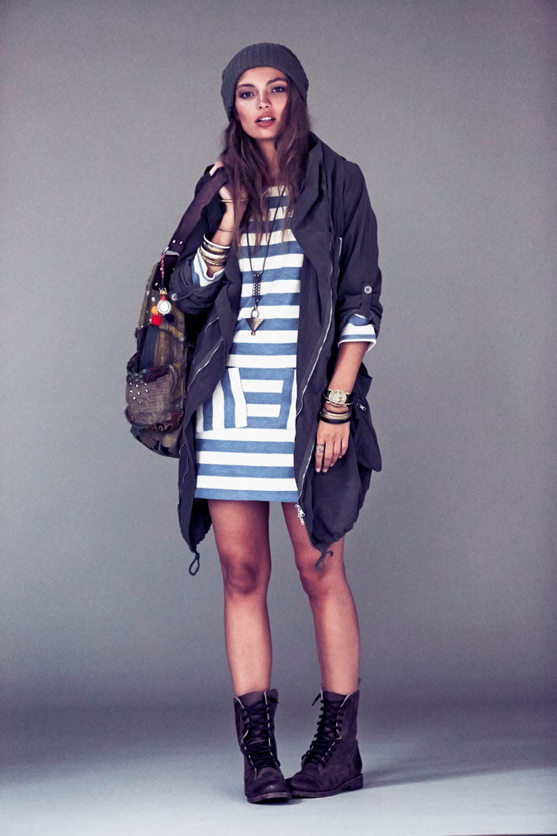 carola remer free people8 Carola Remer Sports Boyish Looks for Free Peoples August Lookbook