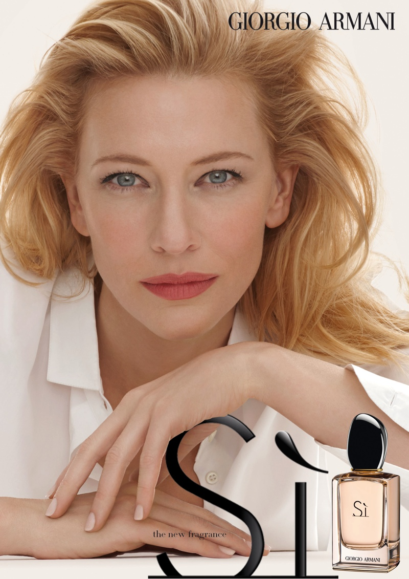 cate blanchett armani si fragrance Cate Blanchett Fronts Armani Sí Fragrance Ad