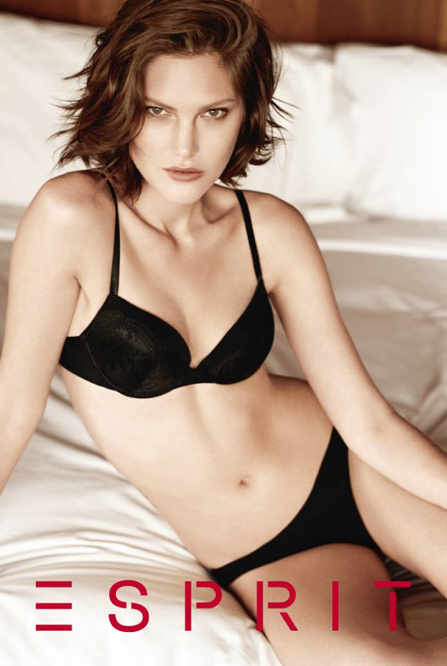 catherine esprit lingerie1 Catherine McNeil Fronts Esprits Fall 2013 Lingerie Campaign