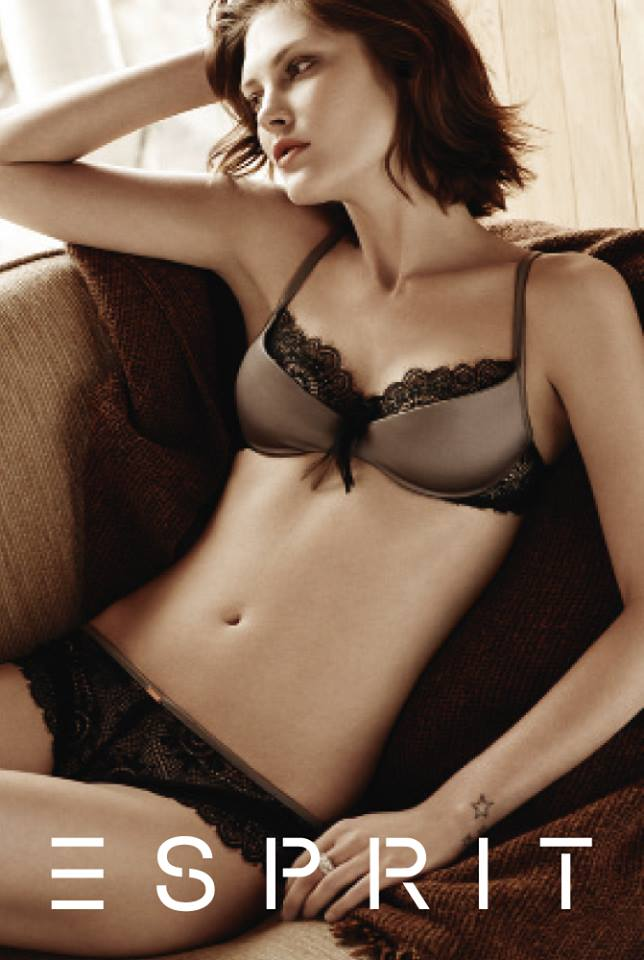Catherine McNeil Fronts Esprit's Fall 2013 Lingerie Campaign