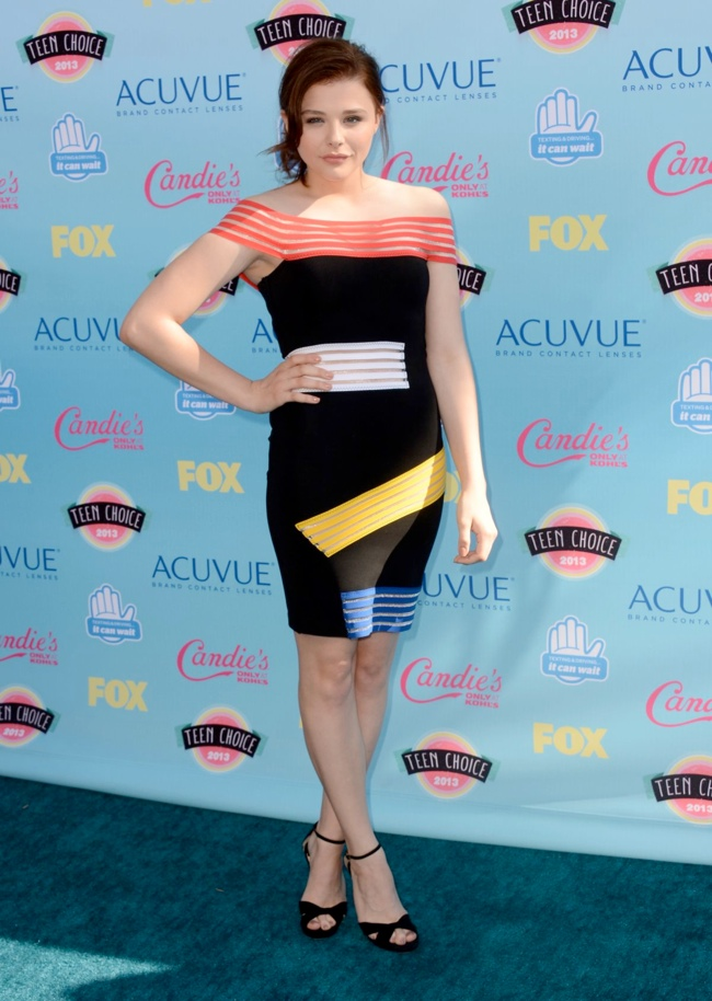 chloe moretz christopher kane Miley Cyrus in Saint Laurent, Nina Dobrev in J. Mendel & More Style at the Teen Choice Awards 2013